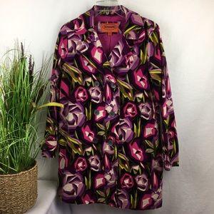 Missoni Pink Retro Print Short Trench Coat XL